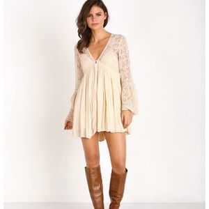 Free People Lace Dress ivory Cream